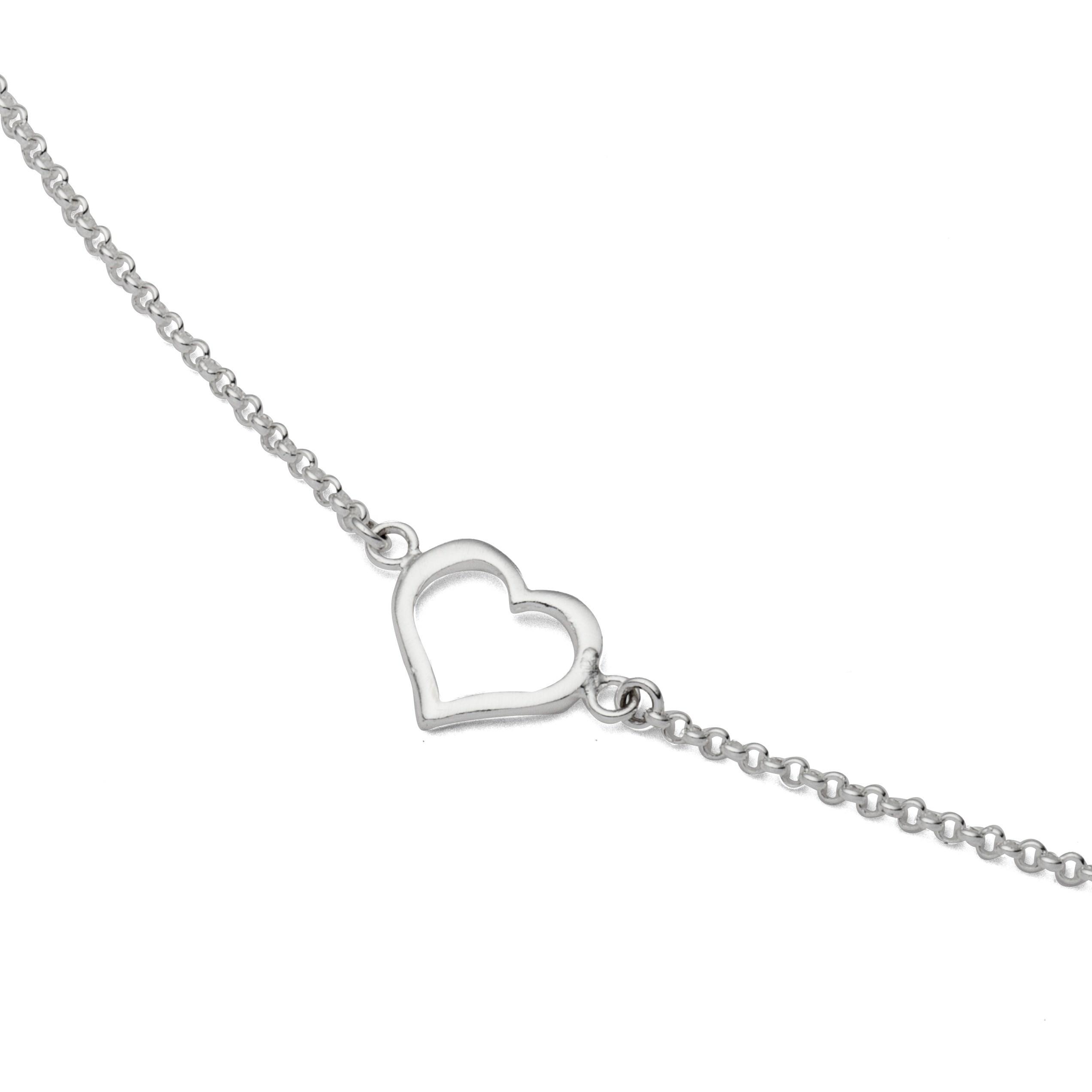 Erbsarmband Herz 925er Silber