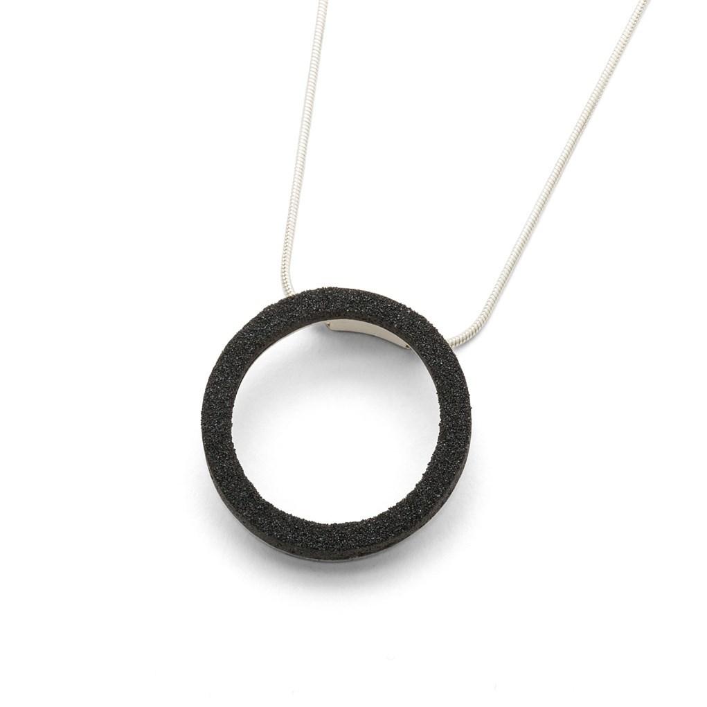 Schlangenkette mit Anhänger Jojo Lavasand Ring 925er Silber