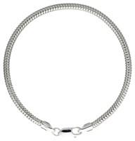 Schlangenarmband dick 3 mm ca. 19 cm 925er Silber