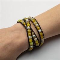 "Armband ""Achat gelb"" 925er Silber"