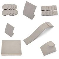 Deko-Set grau für Schaufenster oder Vitrine