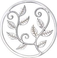 """Einleger """"Leaves"""" rd.  mittel 925er Silber"""