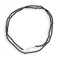 Achatkette facettiert schwarz ca.45cm 925er Silber