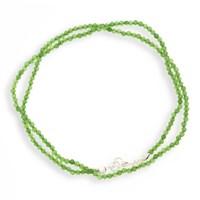 Achatkette facettiert grün ca.45cm 925er Silber