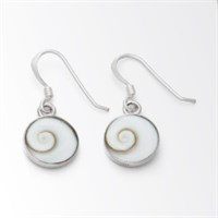 Ohrhänger Meeresauge rund klein 925er Silber