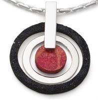 """Anhänger """"Black & Red"""" 925er Silber"""