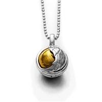 Anhänger Klangspiel Himmelspforte mit Messing-Klangkugel 925er Silber