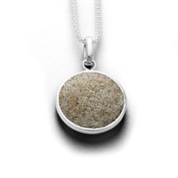 Anhänger Glücksbringer Strandsand rund 925er Silber