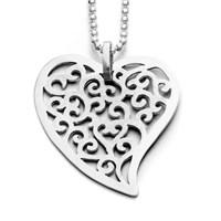 """Anhänger """"Heart"""" rhodiniert 925er Silber"""