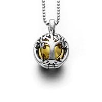 Klangspiel Baum des Lebens rhodiniert 925er Silber
