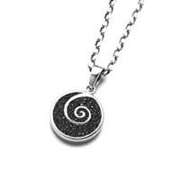 Anhänger Lavasand Spirale rhodiniert 925er Silber
