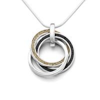 Anhänger Marina mit Ringen aus Strandsand Lavasand und 925er Silber