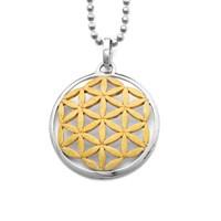 Anhänger Blume des Lebens vergoldet 925er Silber