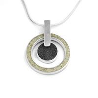 "Anhänger ""Sand/Lavasand"" poliert,  925er Silber"