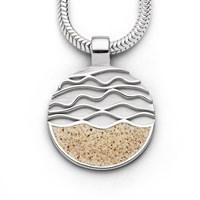"Anhänger ""Ebbe und Flut"" / Sand rhod. 925er Silber"
