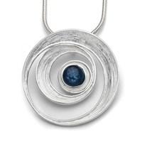 Anhänger Meeresstrudel mit Kyanit blau 925er Silber