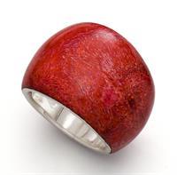Ring Koralle 925er Silber