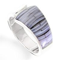 """Ring""""Blue Bamboo"""" 925er Silber"""