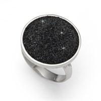 """Ring """"Lava-Sand"""" rd. vari 925er Silber"""