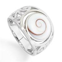 Ring Meeresauge rd. 925er Silber