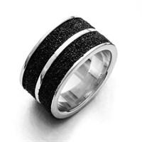 """Ring """"Lava Sand"""" 925er Silber"""