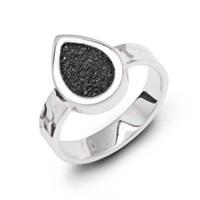 """Ring """"Stromboli"""" Lavasand 925er Silber"""