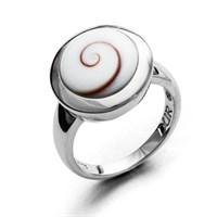Ring Meeresauge rd. rhodiniert925er Silber