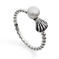 Ring Perle/Muschel 925er Silber