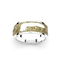 """Ring""""Langeoog"""" Sand 925er Silber"""