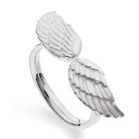 """Ring""""2 Flügel matt"""" 925er Silber"""