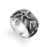 """Ring """"Meeresschatz"""" oxidiert 925er Silber"""