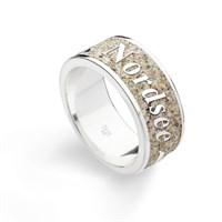 """Ring """"Nordsee"""" Strandsand rhodiniert 925er Silber"""