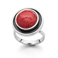 """Ring """"Koralle"""" rhod. oxidiert vari. 925er Silber"""