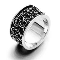 """Ring """"Twist"""" Silber oxidiert 925er Silber"""