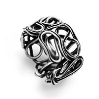 """Ring """"Perlennest""""  oxidiert 925er Silber"""