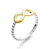 """Ring """"Infinity"""" vergoldet 925er Silber"""