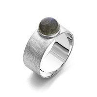 "Ring ""Betty"" gebürstet Labradorit 925er Silber"
