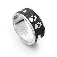 "Ring ""Lucky Dog"" Lavasand rhodiniert 925er Silber"