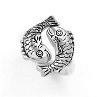 "Ring ""Maritime BriseII"" Fische oxi. 925er Silber"