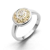 Ring Strandsand mit Spirale rund 925er Silber rhodiniert