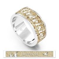 """Ring """"Greetsiel"""" Sand, rhodiniert 925er Silber"""