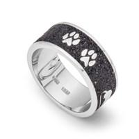 Ring Sandkatze Lavasand aus 925er Silber