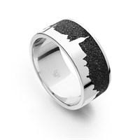 """Ring """"Jessen"""" Lavasand rhodiniert 925er Silber"""