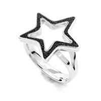 """Ring """"Stella"""" Lava-Sand 925er Silber"""