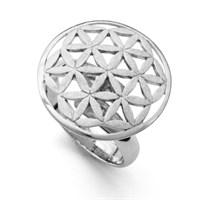 Ring Blume des Lebens Größe variabel einstellbar 925er Silber