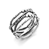 """Ring """"Tautropfen"""" oxidiert 925er Silber"""