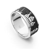 "Ring""Greetsiel II""Lavasand rhodiniert 925erSilber"