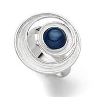 Ring Meeresstrudel mit Kyanit blau, Größe variabel einstellbar 925er Silber