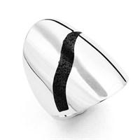 """Ring """"Lava-Blitz"""" poliert 925er Silber"""