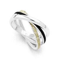"Ring ""Marina II"" Strandsand, Lavasand, 925erSilber"